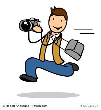 Fotograf in Bewegung